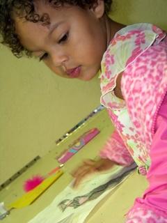 Girl Colors in Kids Kan Class